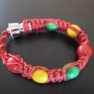 Smoking pipe bracelet, red color fit all sizes.