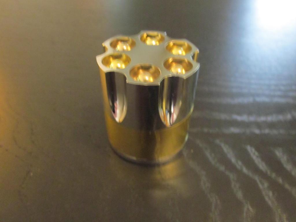 Revolver style marijuana smoking grinder.