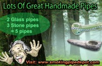 great handmade glass smoking pipes