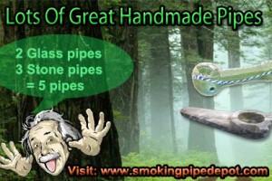 great handmade glass smoking pipes