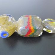 Rasta style glass smoking weed pipe