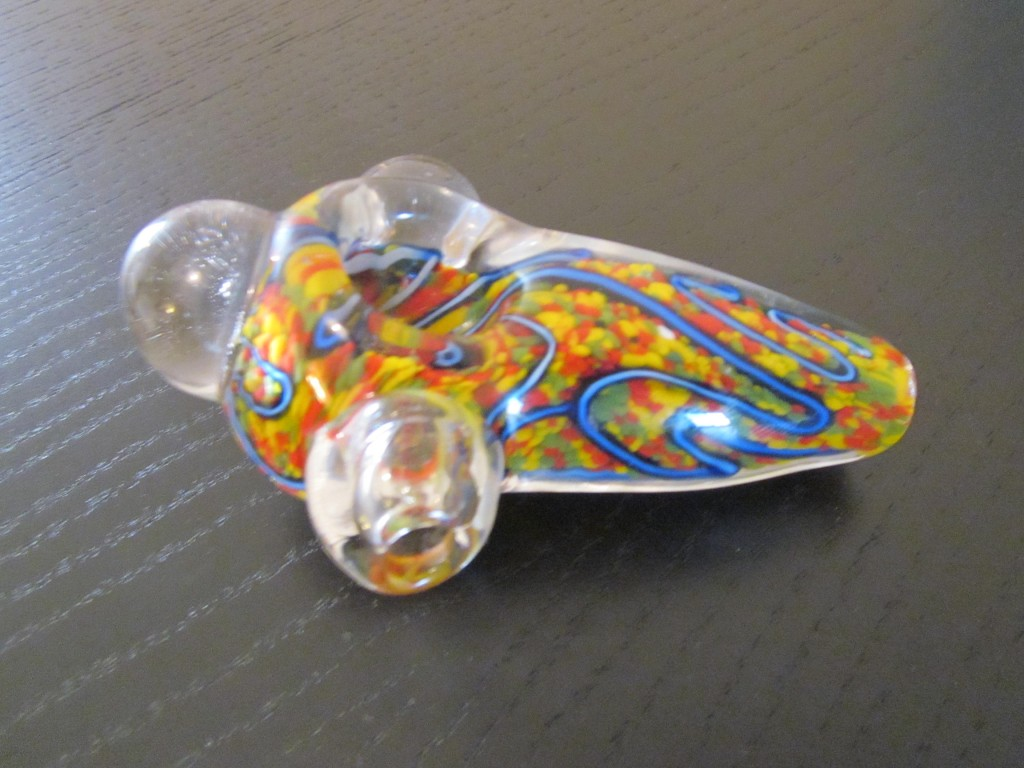 Unique colors handmade solid glass pipe smoking.