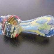 colorful glass smoking weed pipe