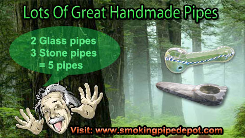 Glass, stone, and wood Smoking pipe store for weed smokers