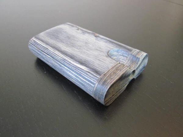 blue wood dugout